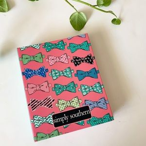 NEW Simply Southern Pink Bow Tie Notebook Preppy